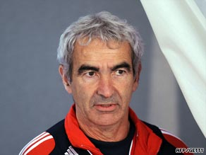 France manager Raymond Domeneich must hope his side can get past Ireland in the playoffs.