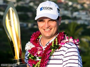 Zach Johnson is encouraged by his start to the year after landing his fifth PGA Tour triumph in Honolulu.