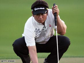 Yang lies one stroke ahead of his rivals after a second-round 65 in Florida.
