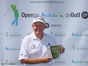 Montgomerie was presented with a memento to mark his 500th appearance, but fell away after a good start.