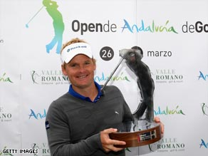 Kjeldsen was getting his hands on a major trophy for the second time in four months.
