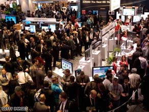 Crowds check out the gadgets at last year's Consumer Electronics Show (CES) in Las Vegas.