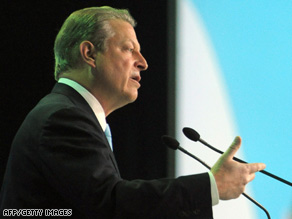 Al Gore speaks before a U.N. convention on climate change last December in Poznan, Poland.