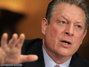 Al Gore says the United States must join international talks on an environmental treaty.