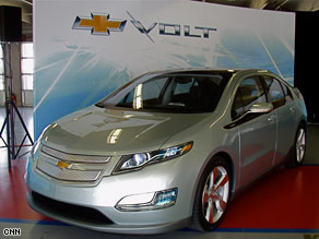 Chevrolet hopes the Volt will be the first mass-produced plug-in electric car on American roads by late 2010.