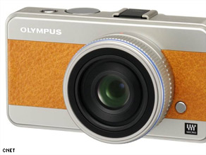 A prototype of Olympus' Micro Four Thirds model, one of several small cameras with big features.