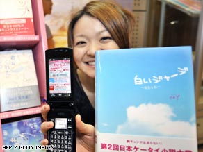 Publishers in Japan were quick to see the potential of putting cellphone novels into print.