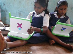A boy in Peru starts exploring all he can do on his new XO laptop.