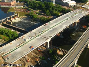 The new I-35W bridge in Minneapolis, Minnesota, was fortified with fly ash. Its predecessor collapsed.