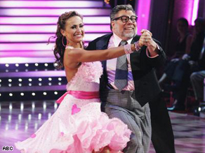 "Apple Inc. co-founder Steve Wozniak and his partner show off their moves on ""Dancing With the Stars."""