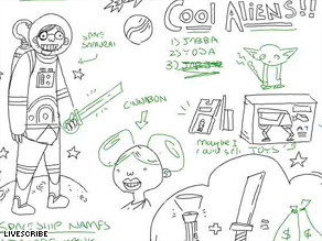 "Spoof notes of ""Star Wars"" are scribbled into a fun online ""pencast."""