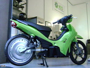Lean, green electric machine: KLD is hoping to kickstart the electric scooter industry with its new engine.