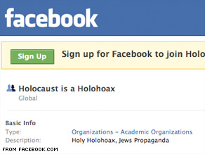 Attorney Brian Cuban is trying to get Facebook to remove pages for Holocaust denial groups such as this one.