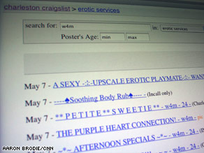 "Craigslist will replace its ""erotic services"" listings with ads that are screened by the site's employees."
