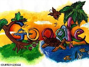 "Christin Engelberth's ""doodle"" beat out more than 28,000 entries in Google's annual contest."