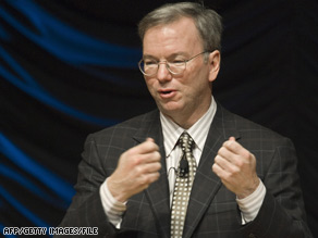 """It's time for us to take advantage of [this]. . .amazing opportunity,"" Google's Eric Schmidt told developers."