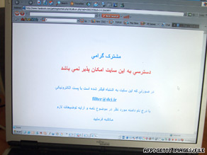 Iranians encountered problems gaining access to Facebook even before the June elections.