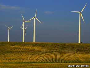 In 2008, the U.S. became the world's leading provider of wind power. This wind farm is in Velva, North Dakota.