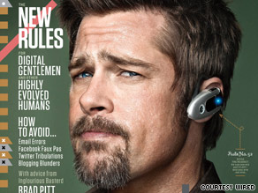 In Wired's new cover story, Brad Pitt offers etiquette for the digital age.