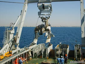 Seacom cable laying in the Red Sea.