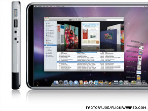 This illustration imagines what an Apple tablet device might look like.