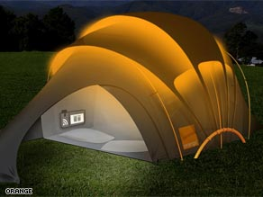 Solar tent: A great green gadget for occasionaly campers.