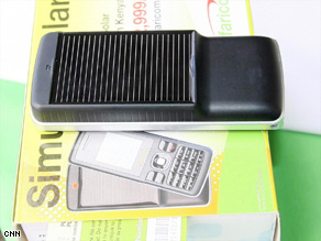 The solar phone is expected to be a great success in Kenya.