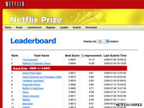 Netflix says it will announce the winner of its $1 million Netflix Prize at an event September 21.
