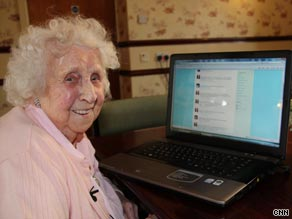 Ivy Bean has 27,000 Twitter followers and tweets from the care home where she lives in Bradford, England.