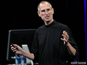 Apple CEO Steve Jobs hosted the company's music-themed event in San Francisco Wednesday.