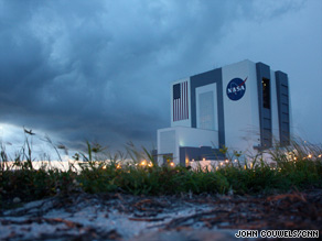 The space shuttle's landing in Florida was delayed Thursday, shown. A first attempt Friday was called off, too.