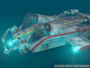 &quot;Deep Flight II&quot; can dive to depths of 37,000 ft -- almost four times deeper than a giant squid which can dive to 10,000 ft.