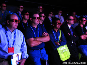 Panasonic demonstrates 3-D television at a recent technology expo in Atlanta, Georgia.