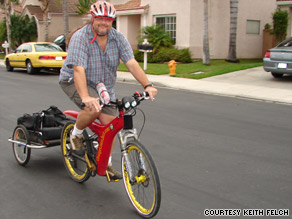 "Keith Felch calls his electric bike a ""hill eraser"" because he can ride it to work without breaking a sweat."
