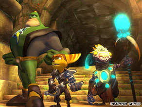 Clank, right, is Ratchet's tiny robot sidekick. He gets more of a backstory in the latest version of the game.