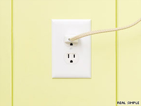 To save money and energy, seal electrical outlets along the exterior walls of your home.