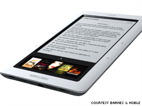 "Barnes & Noble has unveiled an e-reader called ""Nook,"" which will sell for $260 in November."