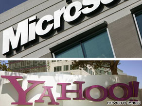 Yahoo to hand over searching to Microsoft, who will pay Yahoo a percentage of future revenue.