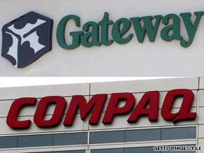 The brands whose rankings saw the most improvement were Compaq and Gateway.