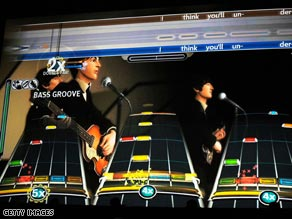 "The Beatles are shown in a scene from the new video game ""The Beatles: Rock Band."""