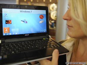 Microsoft offers the new Windows 7 for Netbooks.