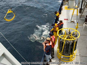 Members of the SEAPLEX expedition set sail on the New Horizon to study a trash field in the Pacific Ocean.