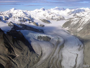 The Gulkana glacier in Alaska is one of three glaciers considered a benchmark by the U.S. Geological Survey.
