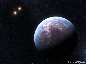 This artist's rendering shows one of the so-called exoplanets, or planets outside our solar system.