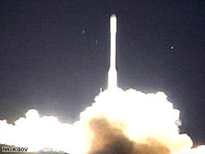 NASA launches a rocket from California's Vandenberg Air Force Base on Tuesday.