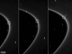 The speck of light, captured by cameras on board the Cassini spacecraft, was first observed on August 15.