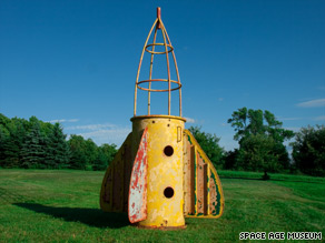 This Coney Island playground climbing frame is one of the larger items clogging the Kleeman family's barn.
