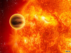 The planet used in the test is a giant gas planet about the size of Jupiter that orbits a star called HAT P-7.