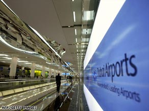Dubai International Airport's Terminal 3 opened in October 2008 aiming to increase the number of passengers to 60 million in 2010.