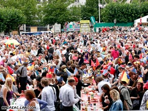 Malmo Festival kicks off every year with a massive crayfish party.